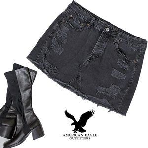 American Eagle Jean MiniSkirt distressed destroyed